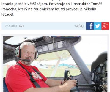 """LITOMĚŘICKÝ DENÍK -""""řidičák"""" na letadlo"""